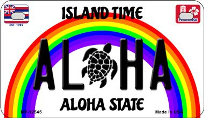 Aloha Turtle Novelty Metal Motorcycle Plate MP-12545