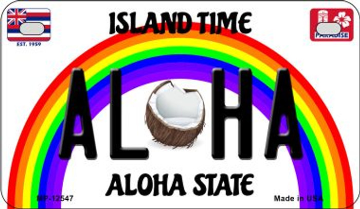 Aloha Coconut Novelty Metal Motorcycle Plate MP-12547