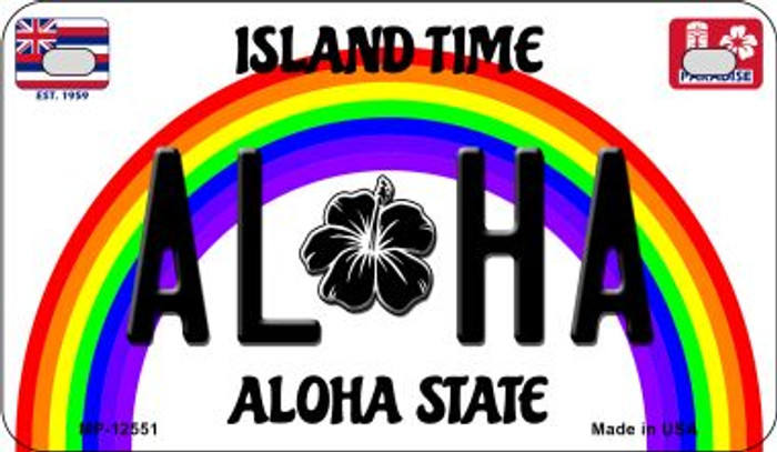Aloha Novelty Metal Motorcycle Plate MP-12551