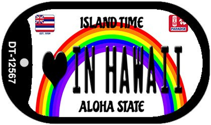 Love In Hawaii Novelty Metal Dog Tag Necklace DT-12567