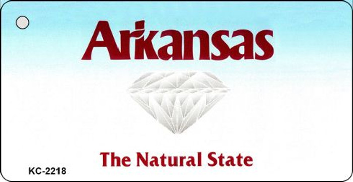 Arkansas State Background Blank Novelty Metal Key Chain KC-2218
