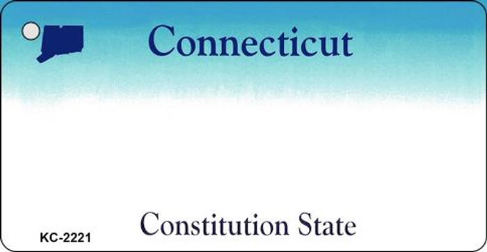 Connecticut State Background Blank Novelty Metal Key Chain KC-2221
