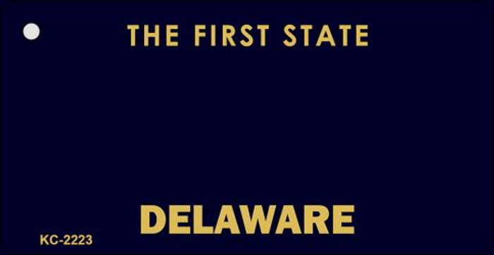 Delaware State Background Blank Novelty Metal Key Chain KC-2223