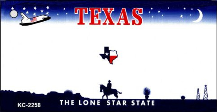 Texas State Background Blank Novelty Metal Key Chain KC-2258