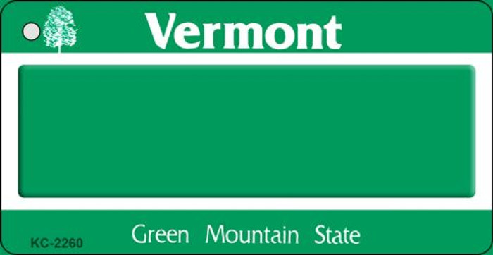 Vermont State Background Blank Novelty Metal Key Chain KC-2260