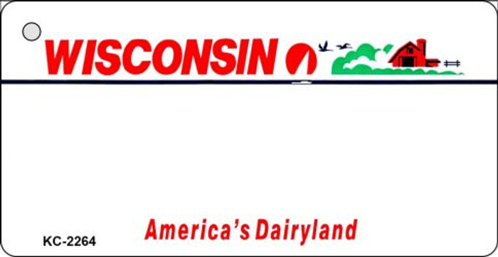 Wisconsin State Background Blank Novelty Metal Key Chain KC-2264