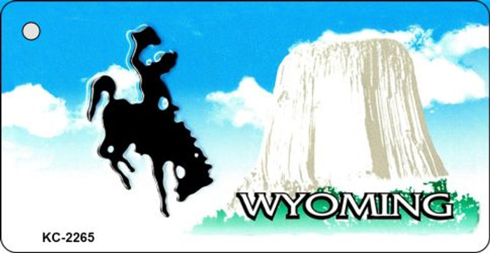 Wyoming State Background Blank Novelty Metal Key Chain KC-2265