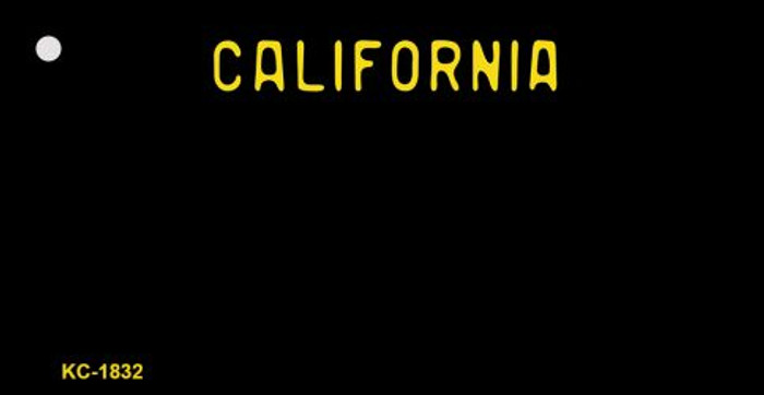 California Black State Background Blank Novelty Metal Key Chain KC-1832