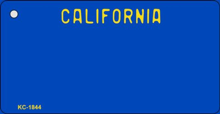 California Blue State Background Blank Novelty Metal Key Chain KC-1844
