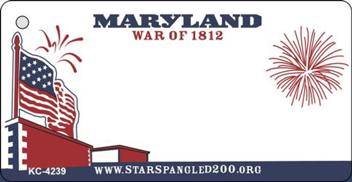 Maryland State Background Blank Novelty Metal Key Chain KC-4239