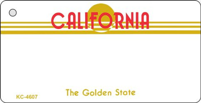 California State Background Blank Novelty Metal Key Chain KC-4607
