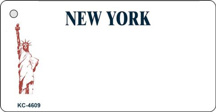 New York State Background Blank Novelty Metal Key Chain KC-4609