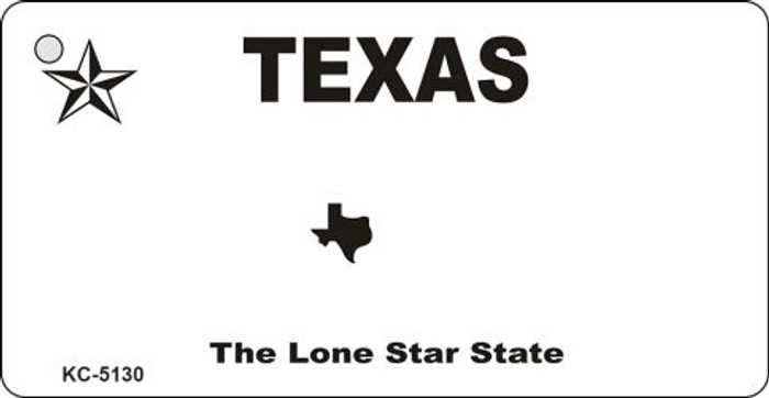 Texas State Background Blank Novelty Metal Key Chain KC-5130