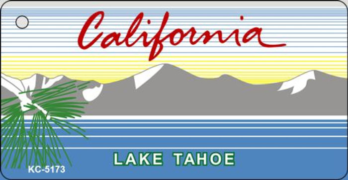 California Lake Tahoe State Background Blank Novelty Metal Key Chain KC-5173