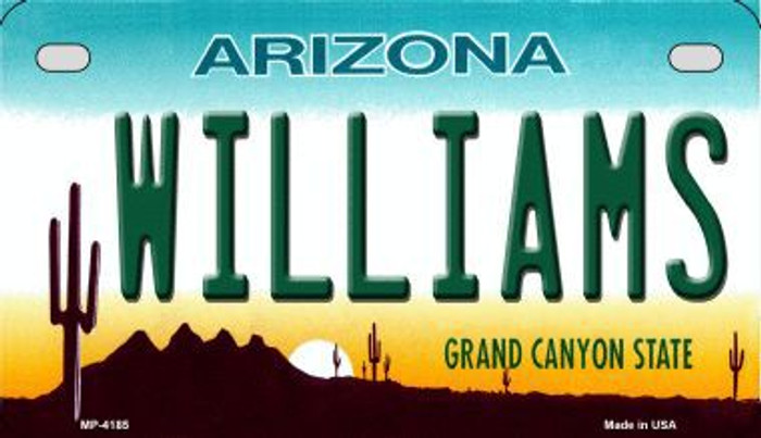Williams Arizona Metal Novelty Motorcycle License Plate