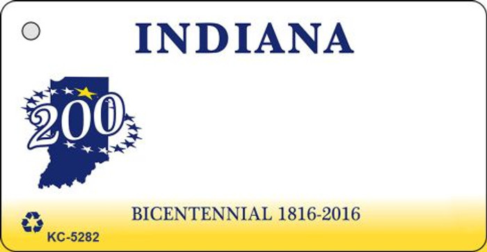 Indiana State Background Blank Novelty Metal Key Chain KC-5282