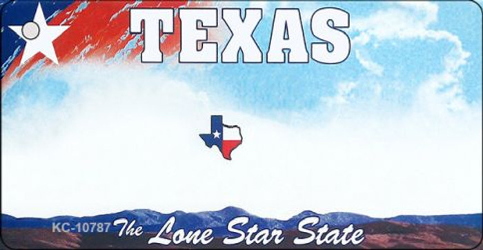 Texas State Background Blank Novelty Metal Key Chain KC-10787