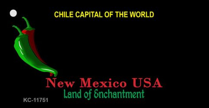 New Mexico State Background Blank Novelty Metal Key Chain KC-11751