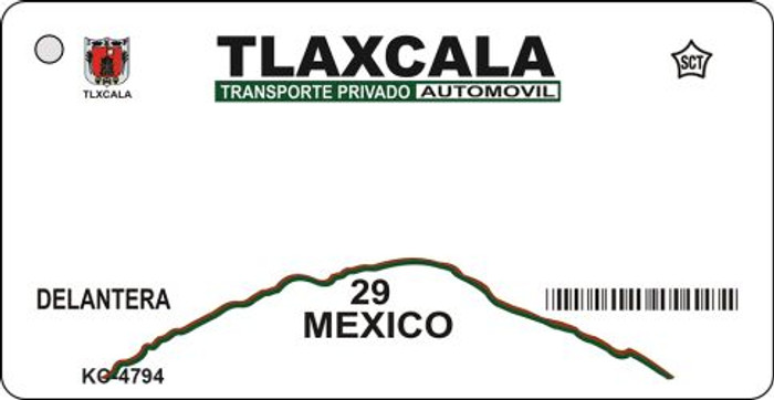 Tlaxcala Mexico Blank Background Novelty Metal Key Chain KC-4794