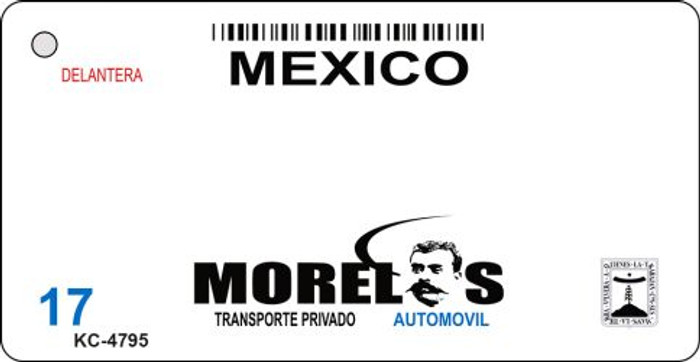Morelos Mexico Blank Background Novelty Metal Key Chain KC-4795