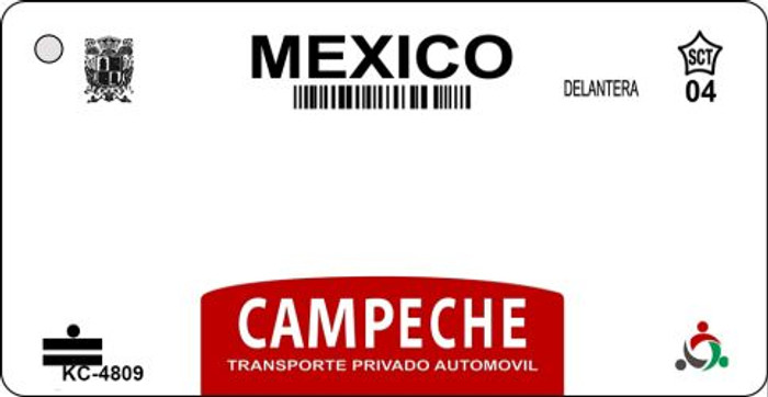 Campeche Mexico Blank Background Novelty Metal Key Chain KC-4809
