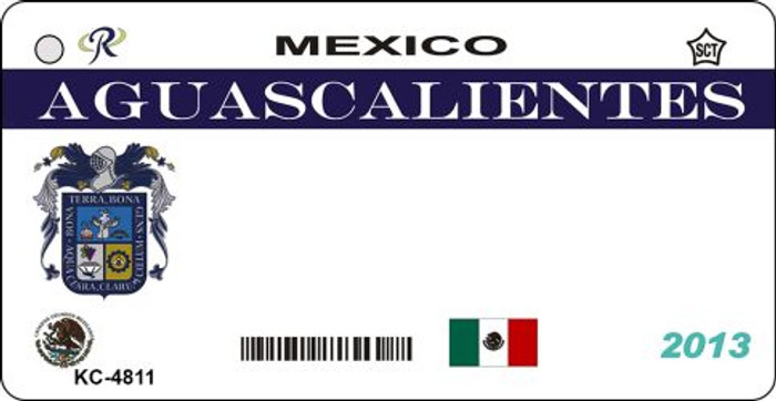 Aguascalientes Mexico Blank Background Novelty Metal Key Chain KC-4811