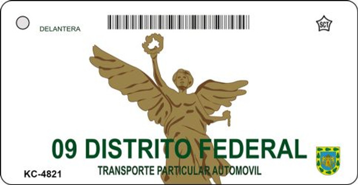 Distrito Federal Mexico Blank Background Novelty Metal Key Chain KC-4821