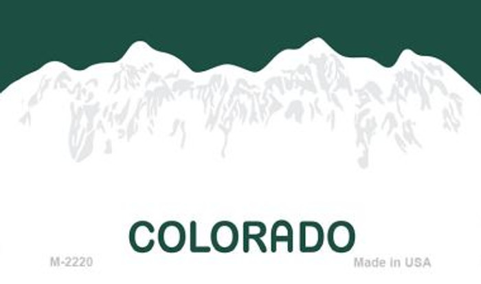 Colorado State Background Blank Novelty Metal Magnet M-2220