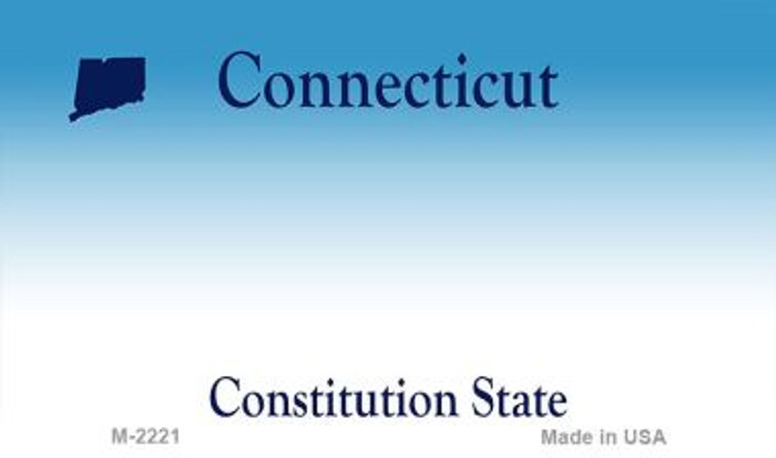 Connecticut State Background Blank Novelty Metal Magnet M-2221