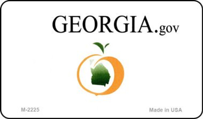 Georgia State Background Blank Novelty Metal Magnet M-2225