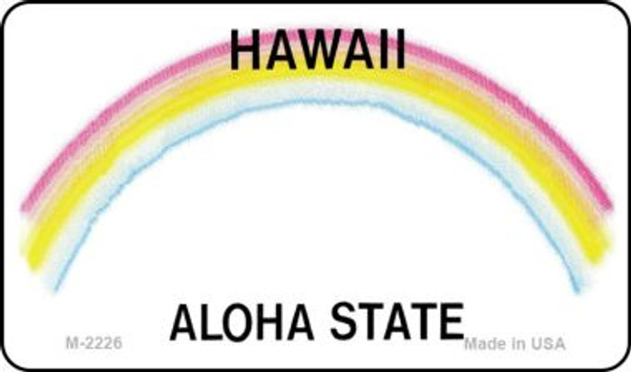 Hawaii State Background Blank Novelty Metal Magnet M-2226