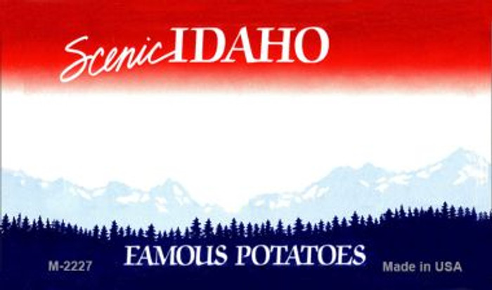 Idaho State Background Blank Novelty Metal Magnet M-2227