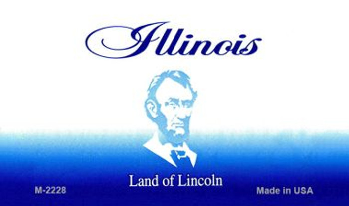 Illinois State Background Blank Novelty Metal Magnet M-2228