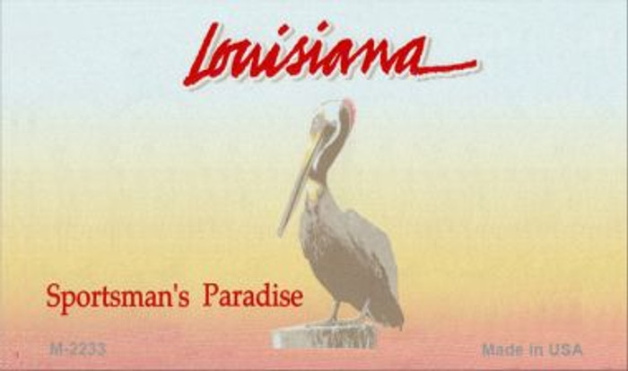Louisiana State Background Blank Novelty Metal Magnet M-2233
