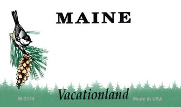 Maine State Background Blank Novelty Metal Magnet M-2234
