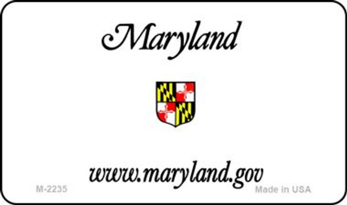Maryland State Background Blank Novelty Metal Magnet M-2235
