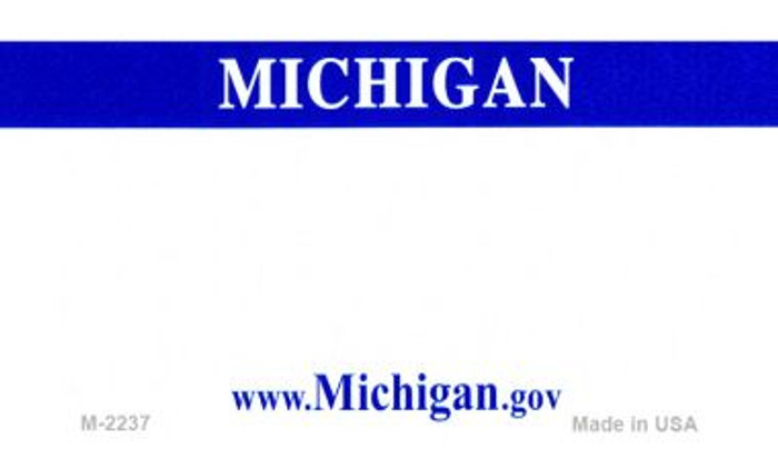 Michigan State Background Blank Novelty Metal Magnet M-2237