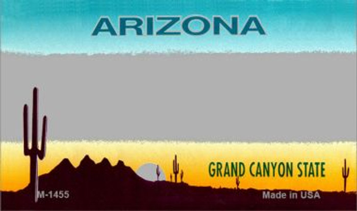 Arizona Grey State Background Blank Novelty Metal Magnet M-1455