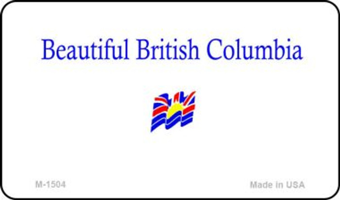 British Columbia Blank Background Novelty Metal Magnet M-1504