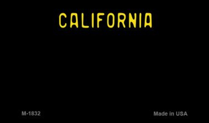 California Black State Background Blank Novelty Metal Magnet M-1832