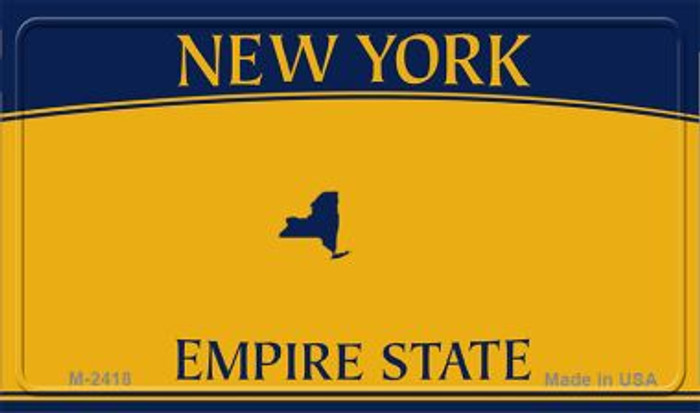 New York State Background Blank Novelty Metal Magnet M-2418