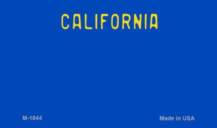 California Blue State Background Blank Novelty Metal Magnet M-1844
