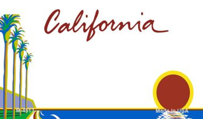California State Background Blank Novelty Metal Magnet M-4513
