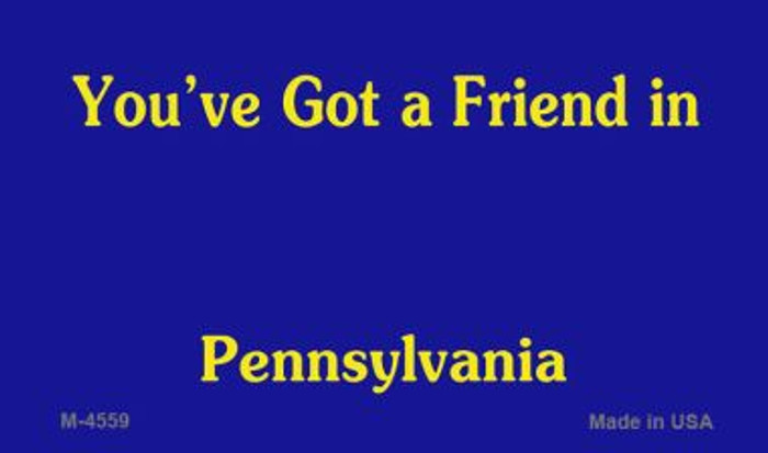 Pennsylvania State Background Blank Novelty Metal Magnet M-4559