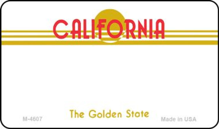 California State Background Blank Novelty Metal Magnet M-4607
