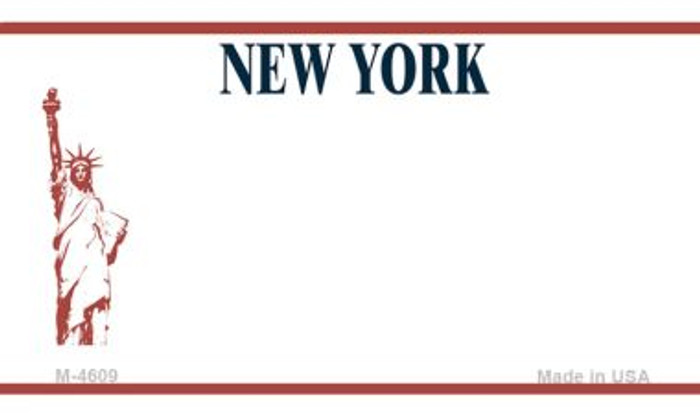 New York State Background Blank Novelty Metal Magnet M-4609
