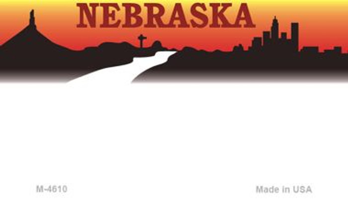 Nebraska State Background Blank Novelty Metal Magnet M-4610