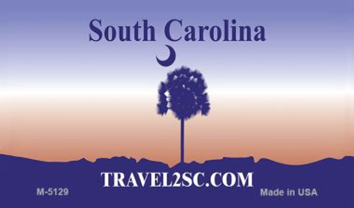 South Carolina State Background Blank Novelty Metal Magnet M-5129