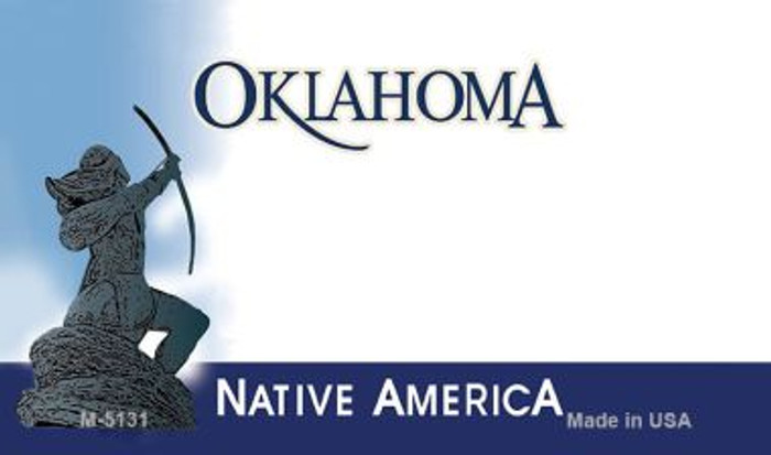 Oklahoma State Background Blank Novelty Metal Magnet M-5131