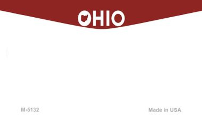 Ohio State Background Blank Novelty Metal Magnet M-5132